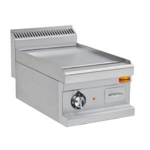 Elektro-Grillplatte, glatt, verchromt, 6 kW, 400 V, 400x700x270 mm