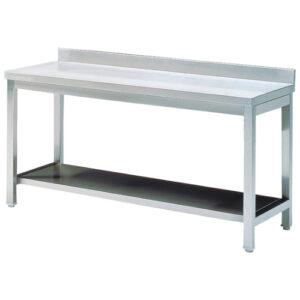 Arbeitstisch mit Zwischenboden, mit Aufkantung, 600×700 mm