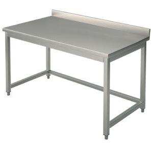 Arbeitstisch ohne Zwischenboden, mit Aufkantung, 1600×700 mm